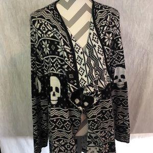 Torrid Fair Isle Skull Cardigan Sweater Size 2